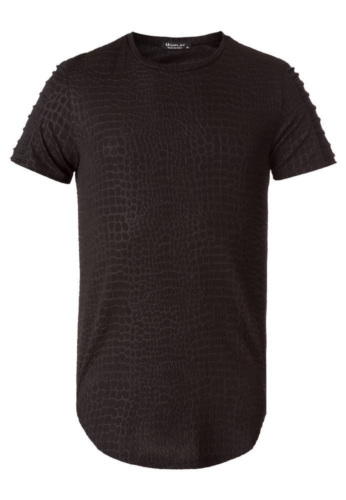 T-Shirt in Kroko-Optik