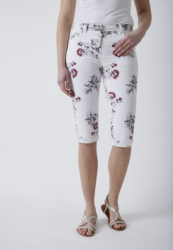 Caprihose mit All-Over-Muster