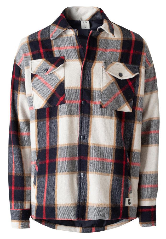Hemdjacke mit All-Over-Muster