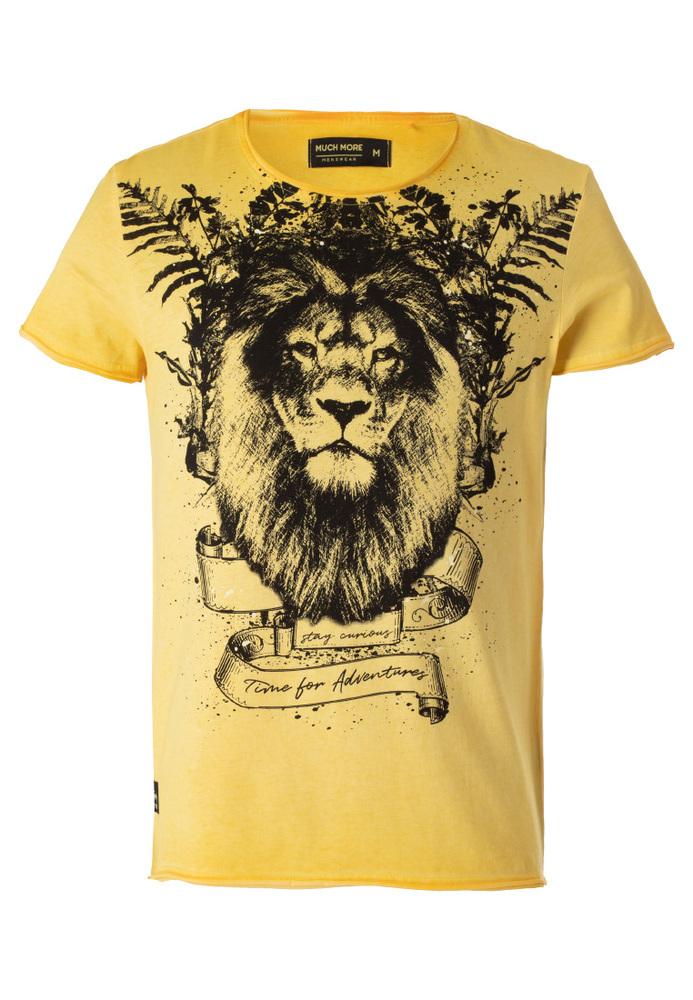 T-Shirt mit Löwenkopf-Print
