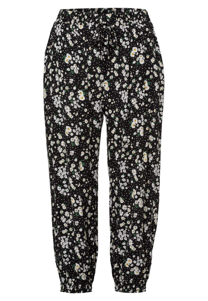 Stoffhose mit All-Over-Muster