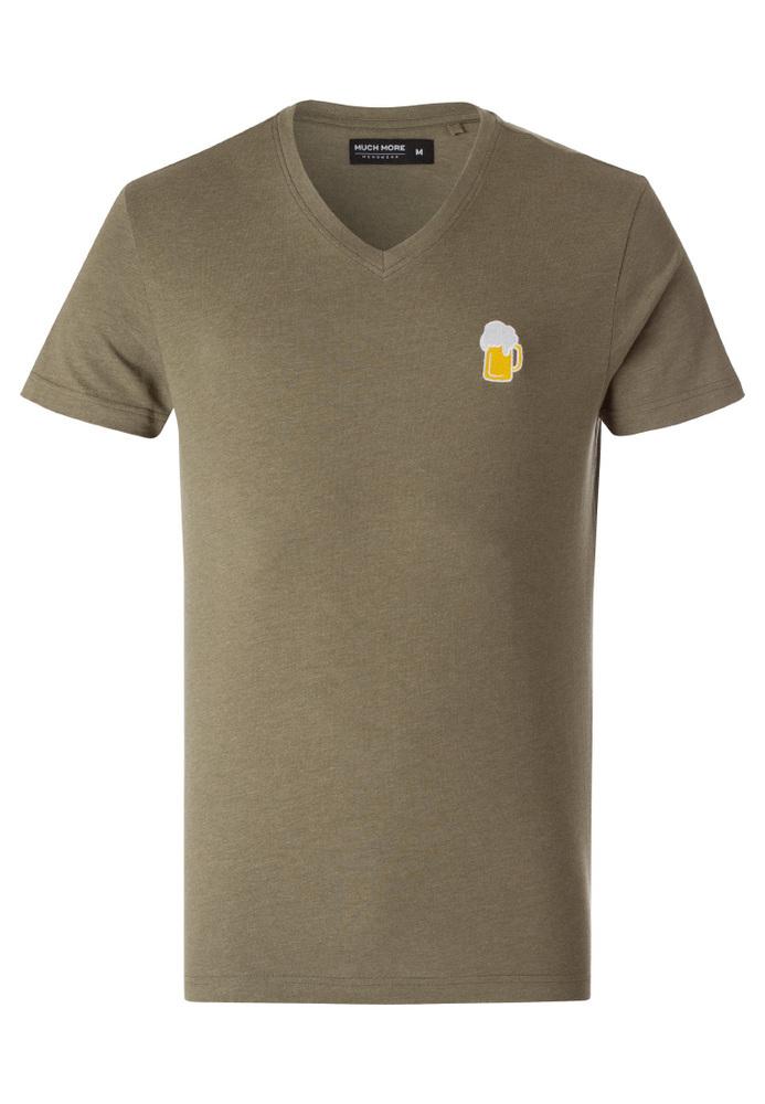 T-Shirt mit Bier-Motiv-Stickerei