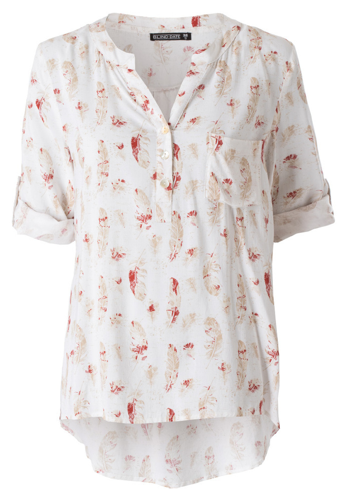 Bluse mit All-Over-Print