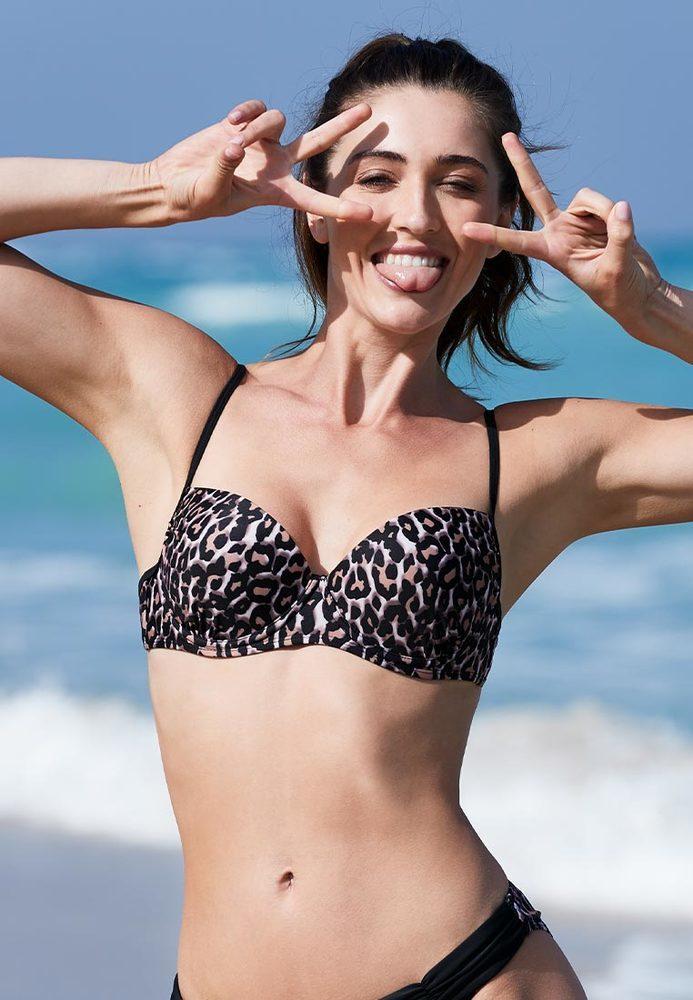 Bikini-Top im Animal-Style