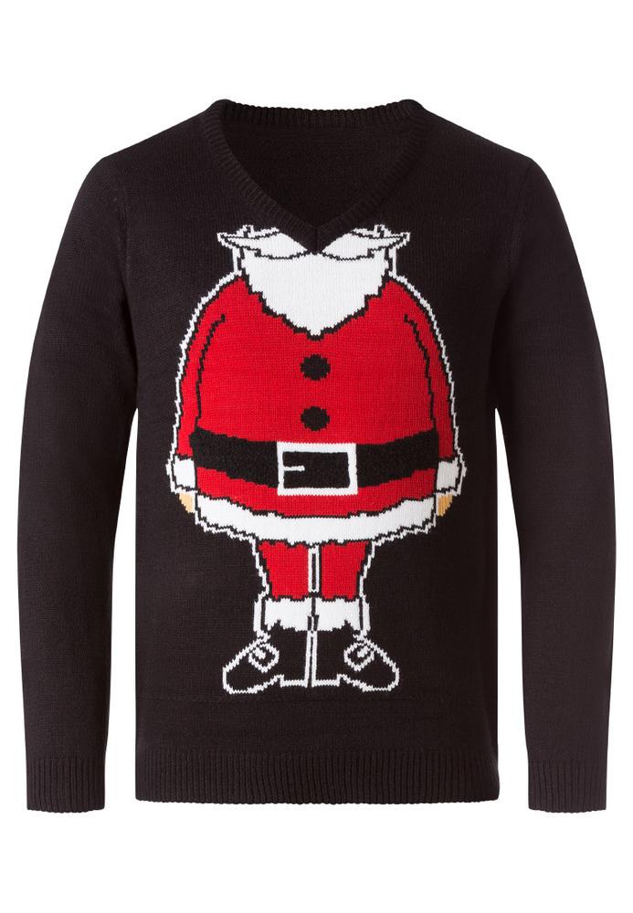 Strickpullover mit Weihnachtsmann-Motiv