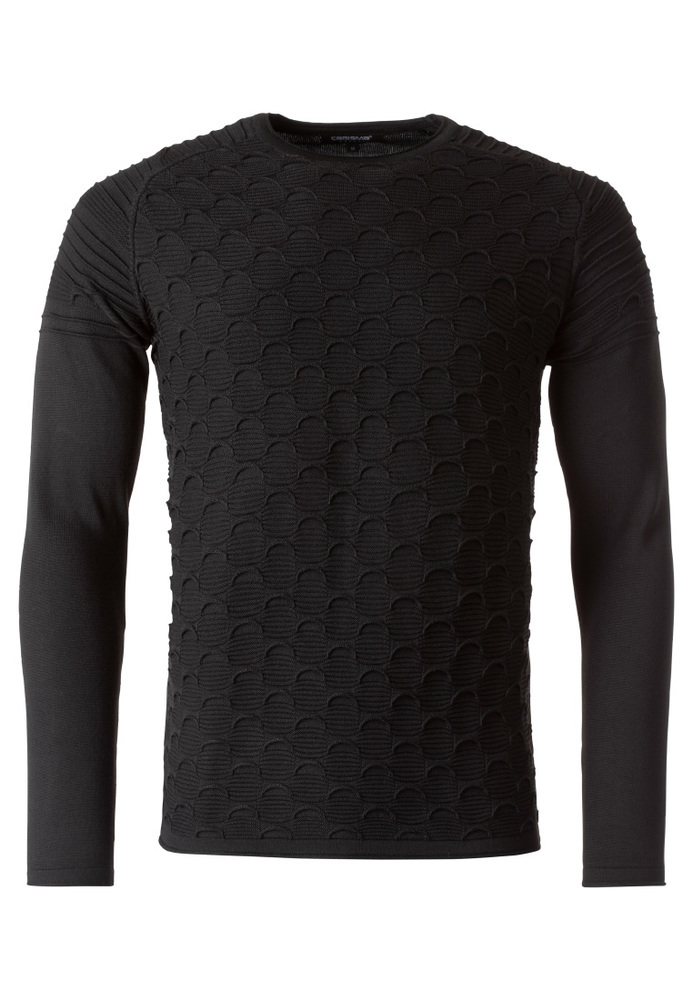 Basic-Pullover mit Muster
