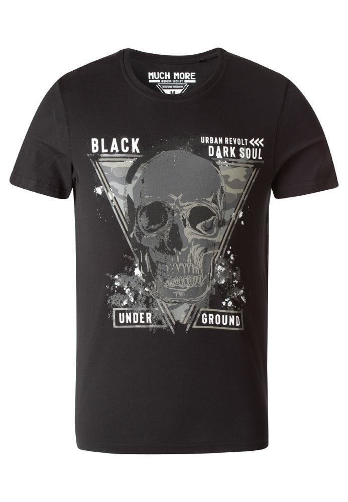 T-Shirt mit Schrifzug-Print