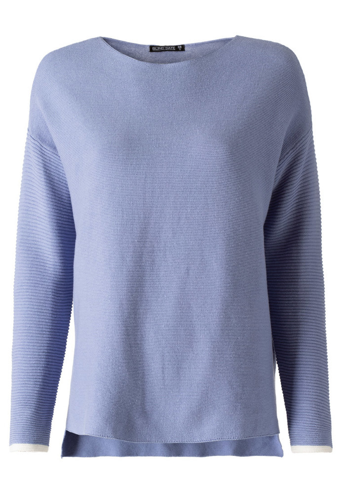 Basic-Pullover im Struktur-Mix