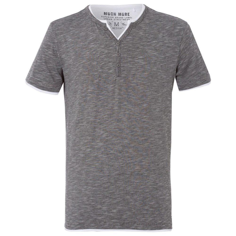 T-Shirt im Henley-Stil
