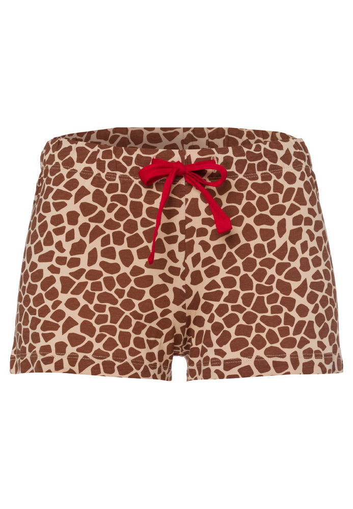 Pyjama-Shorts mit Animal-Print