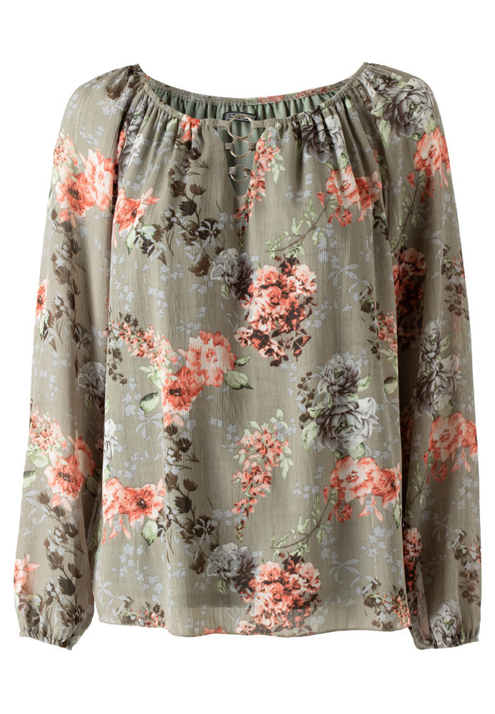 Chiffonbluse mit All-Over-Print