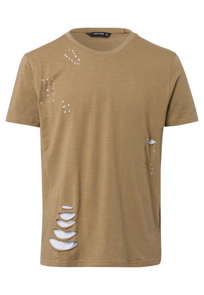 T-Shirt mit Löchern