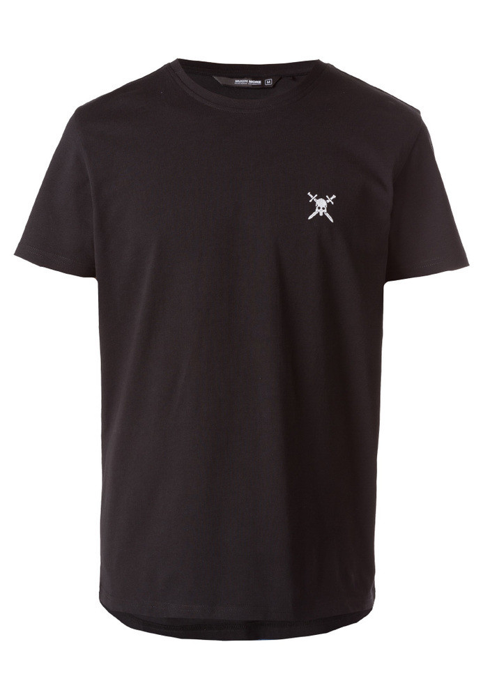 T-Shirt mit Totenkopf-Stickerei