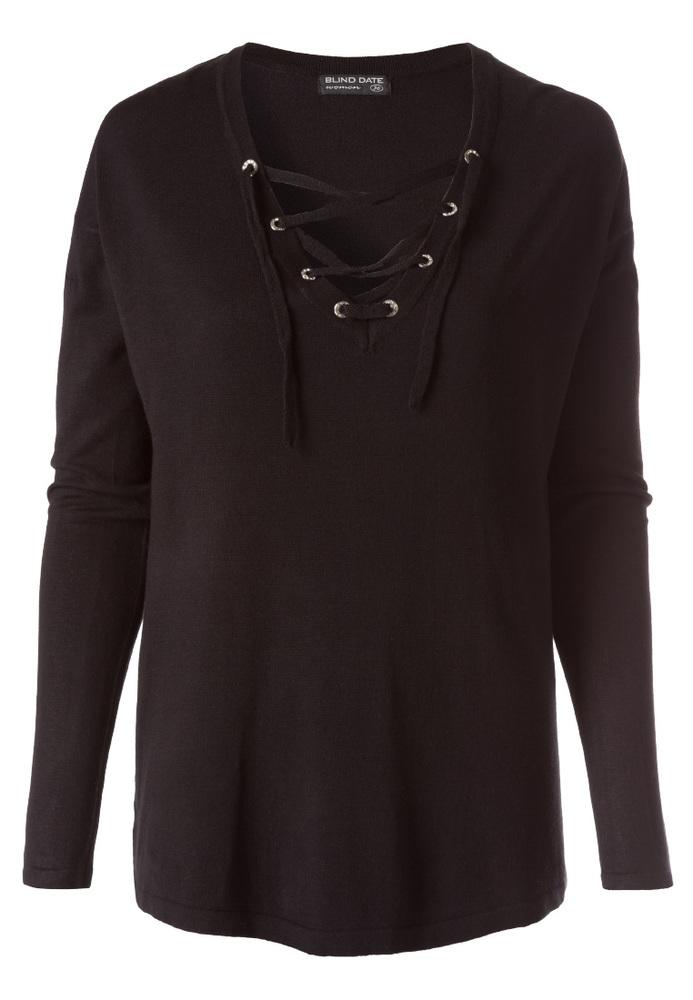 Basic Sweatshirt mit Schnürung