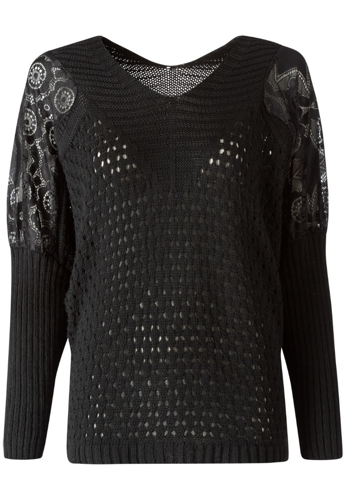 Pullover mit Ajour-Muster