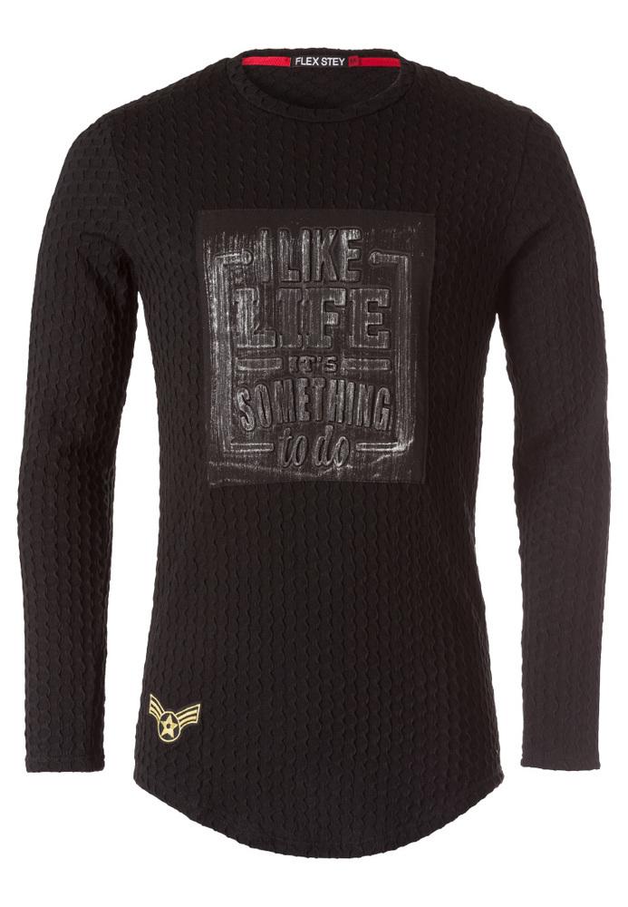 Sweatshirt mit Strukturmuster