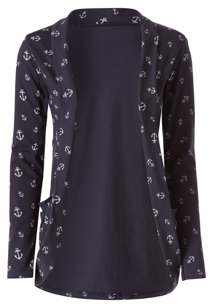 Shirtjacke mit All-over Anker-Print