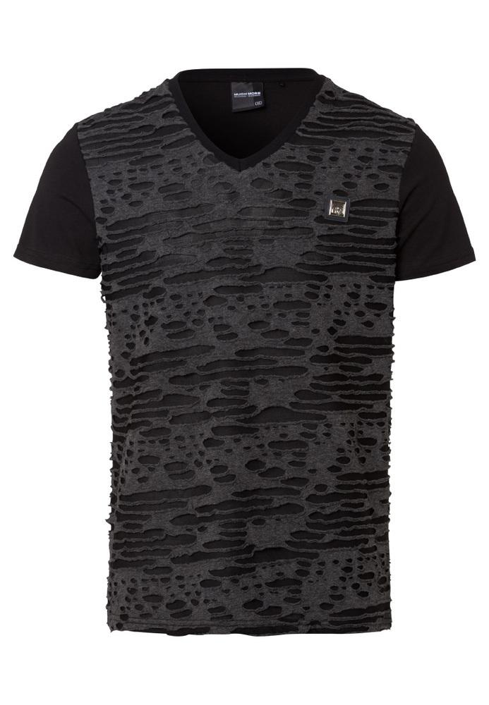 T-Shirt mit Loch-Muster