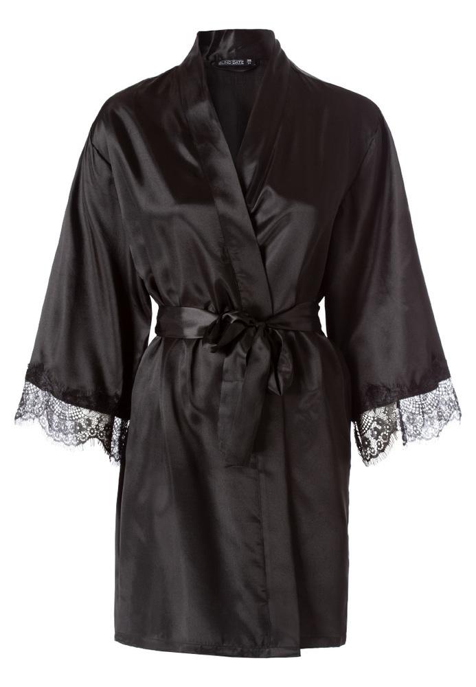 Kimono mit Spitzenbesatz