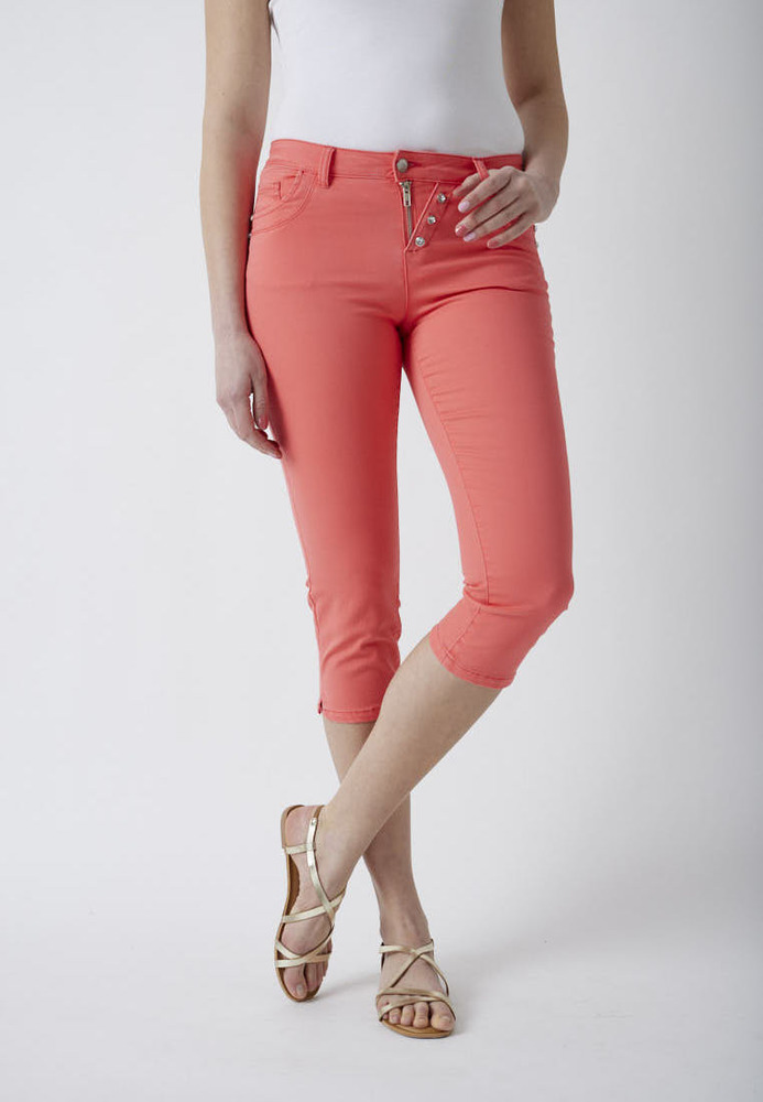 Slim-Fit Capri-Jeans