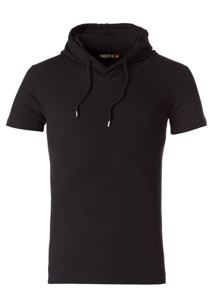 Feinripp T-Shirt mit Kapuze