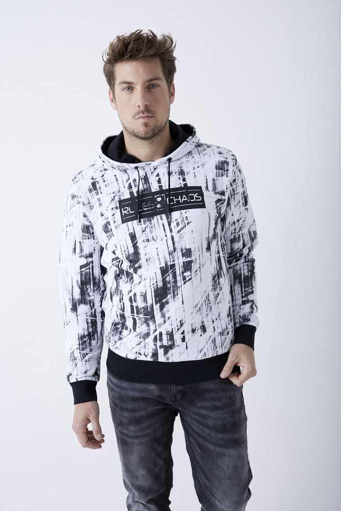 Hoodie mit All-Over-Muster
