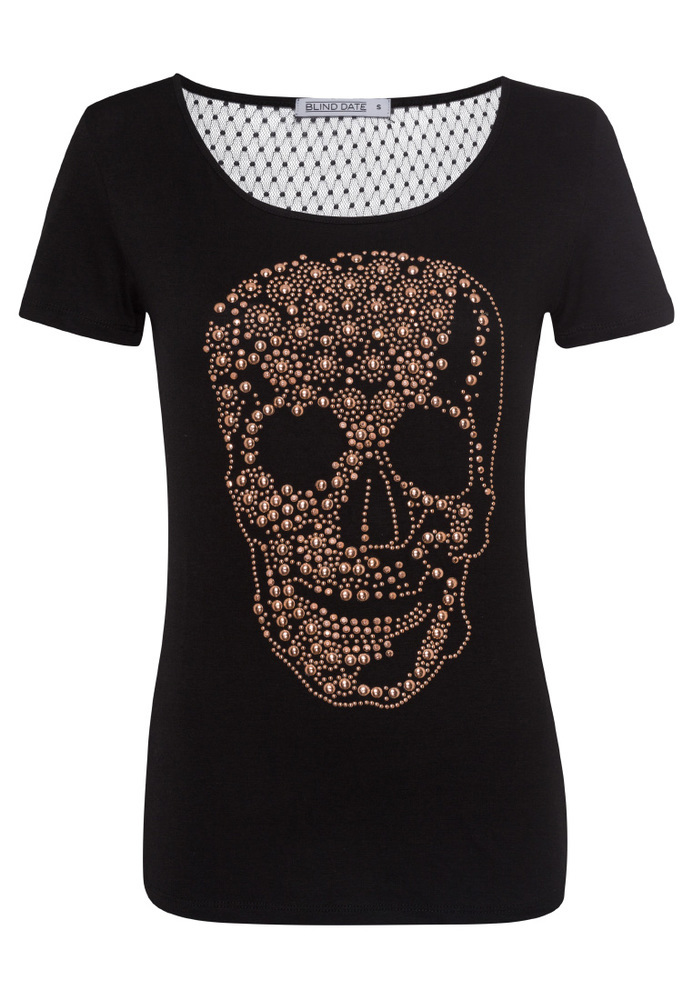 Longshirt mit Totenkopf-Motiv