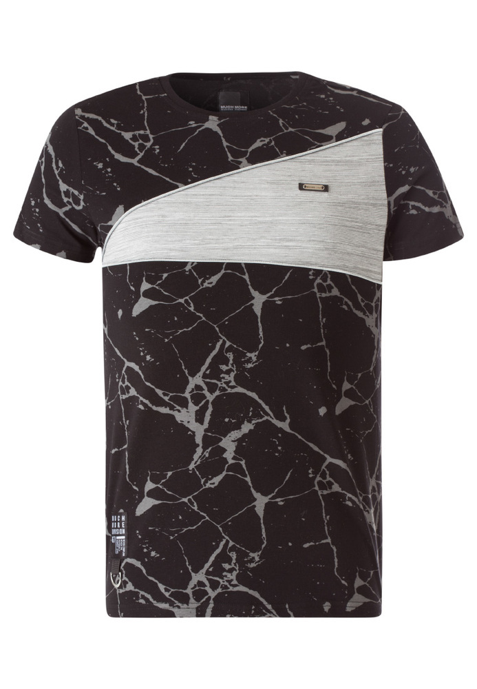 T-Shirt mit All-Over Riss-Muster