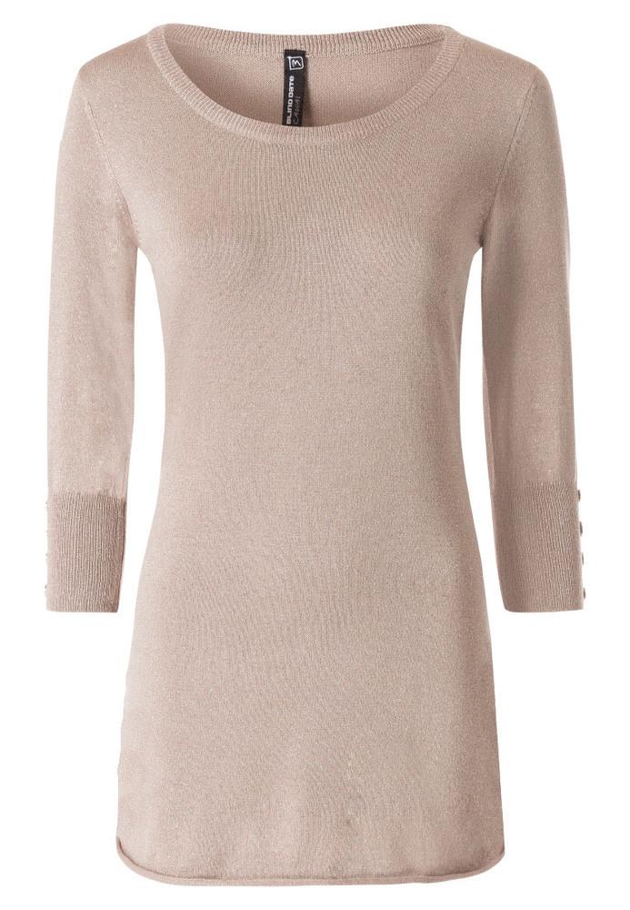 Long Pullover mit Knöpfen