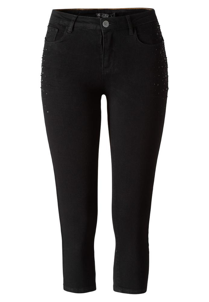 Capri-Jeans mit Push-up-Effekt