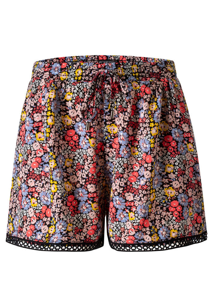 Paperbag-Shorts mit All-Over-Muster