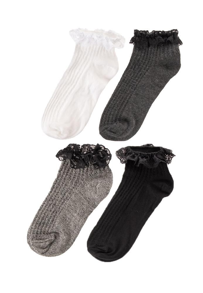 Sneaker-Socken, 4er-Pack
