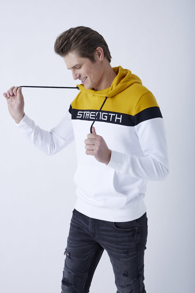 Hoodie im Colour-Blocking-Look