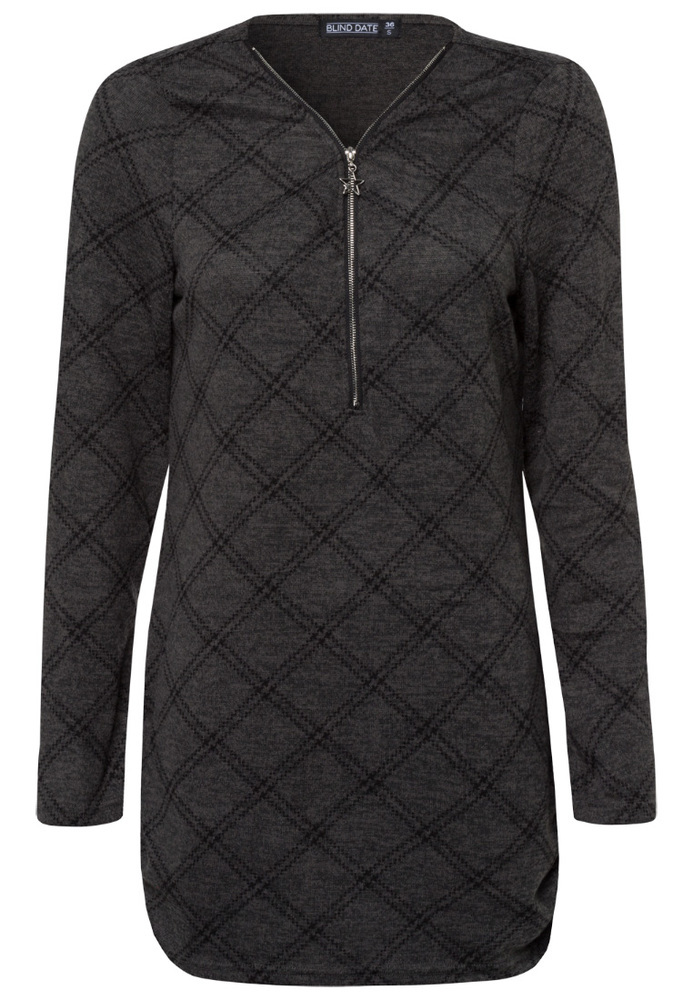 Longshirt mit All-Over-Muster