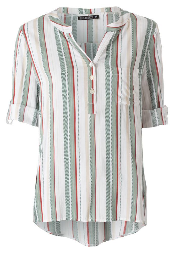 Bluse mit All-Over Streifen-Muster