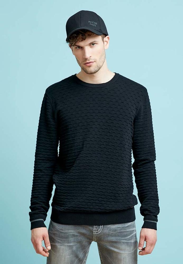 Pullover aus Struktur-Stoff