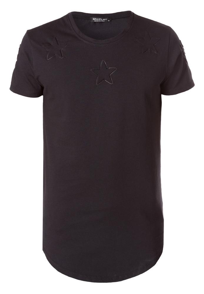 T-Shirt mit 3D-Sternen