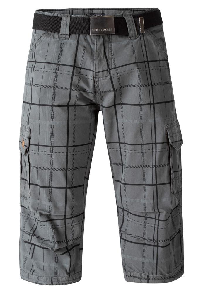 Cargo-Shorts mit Karo-Muster
