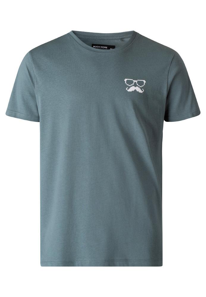 T-Shirt mit Moustache-Print