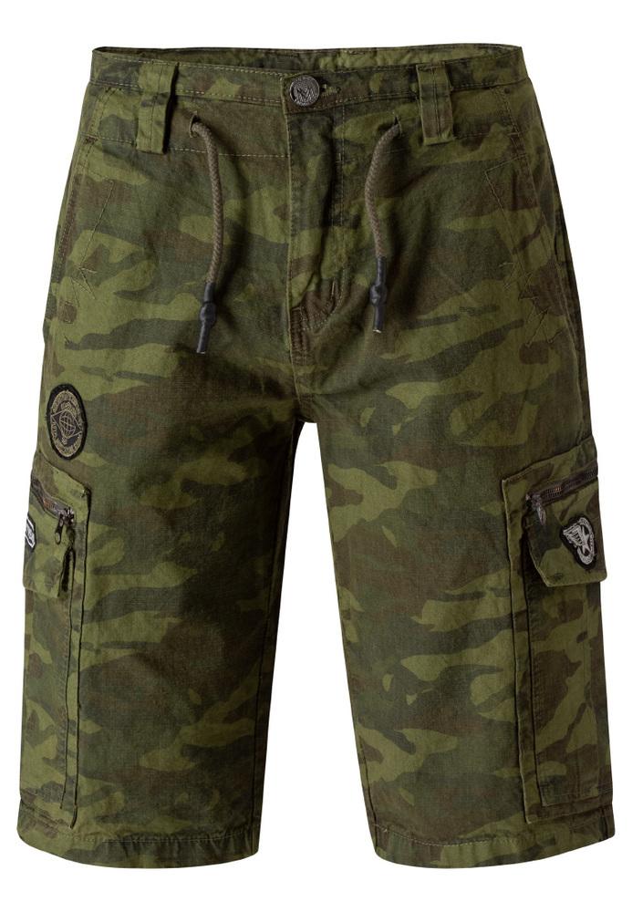Cargo-Shorts in Camouflage-Optik