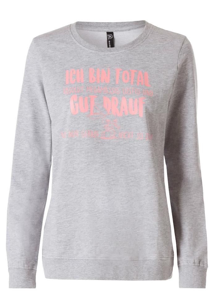 Sweatshirt mit Sprüche-Druck