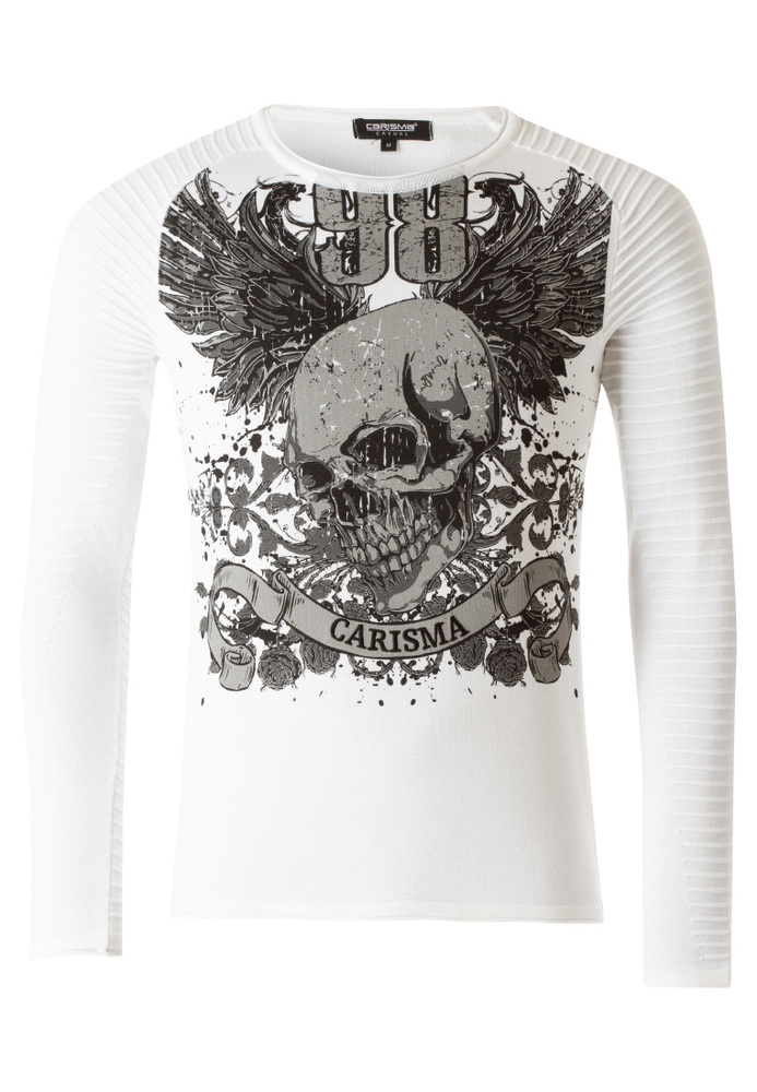 Pullover mit Front-Print