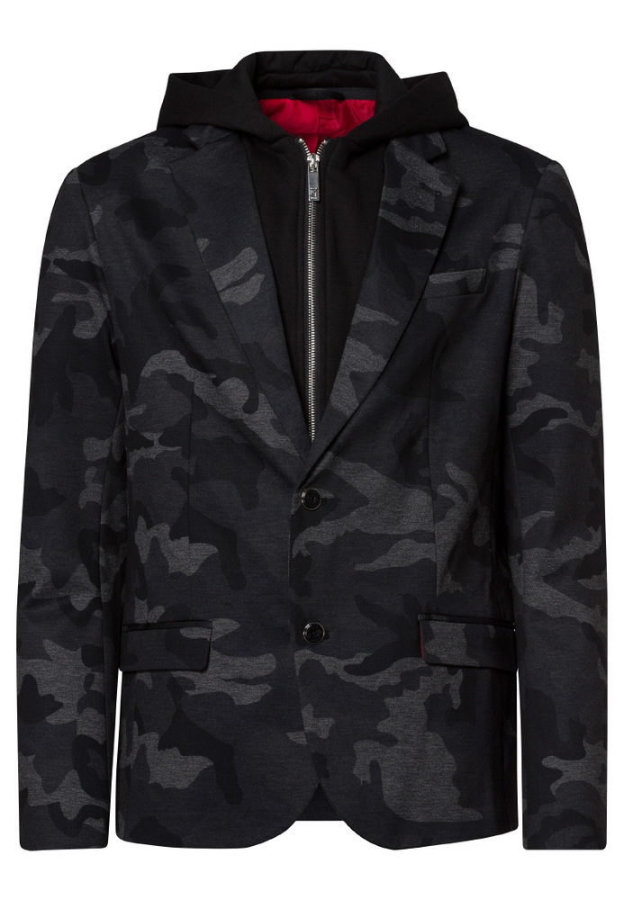 Camo-Sakko mit All-Over-Muster
