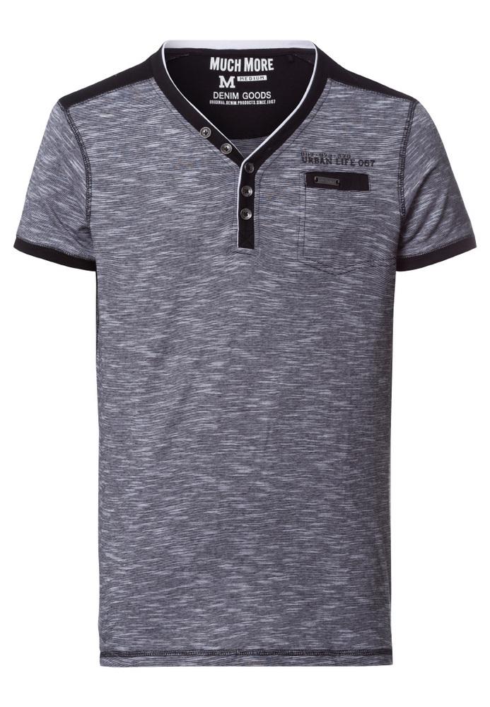 Henley Shirt mit Tasche