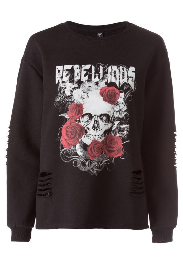 Sweatshirt mit Tattoo-Print