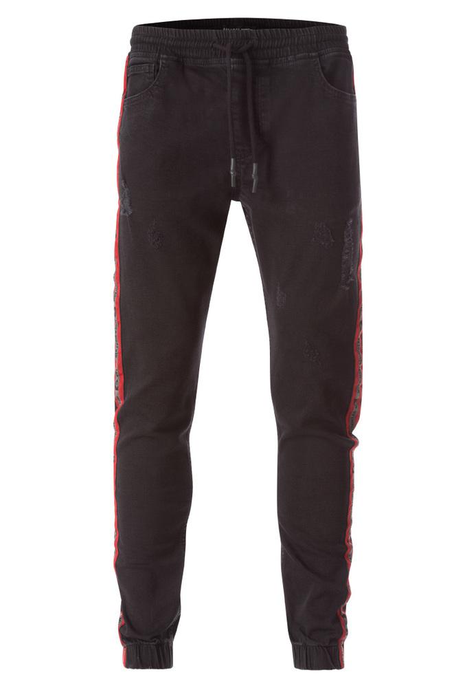 Jeans-Jogger mit Seitenstreifen